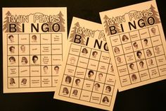 Twin Peaks Bingo cards.  Activity with prizes?