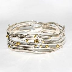 Fabulous hinged organic bangle