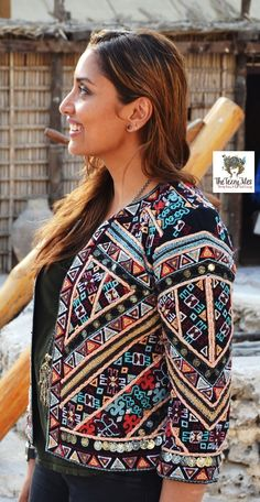 #ootd zara tribal jacket the tezzy files fashion blog dubai uae at dubai museum arabic embroidery coins indian 1