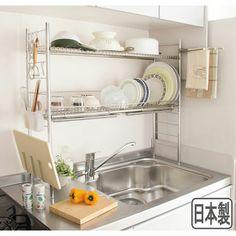 Small Home Remodel Designs Under 50 Square Meters - Di Home Design Kitchen Sets, Kitchen Cupboards, Home Decor Kitchen, Diy Kitchen, Kitchen Interior, Kitchen Storage, Kitchen Design, Kitchen Organisation, Home Organization