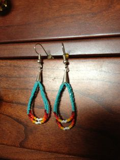 Native American Beaded Earrings on Etsy, $10.00