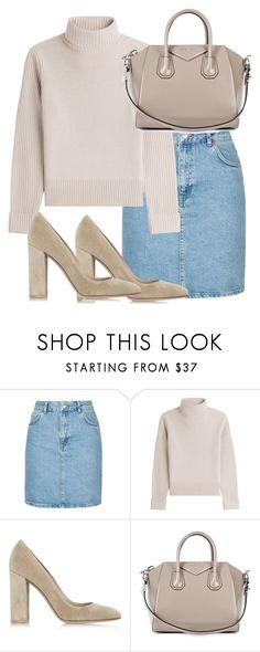 """""""Untitled #2688"""" by theeuropeancloset on Polyvore featuring Topshop, Vanessa Seward, Gianvito Rossi and Givenchy"""