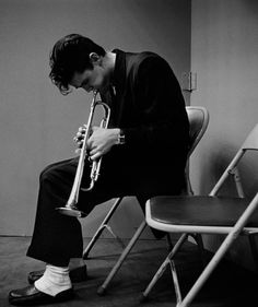 Chet Baker, 1953 | From a unique collection of black and white photography at https://www.1stdibs.com/art/photography/black-white-photography/