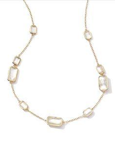 Y27D3 Hipólito Oro 18k Rock Candy Gelato 9 Madre-de-Perla Collar de la estación