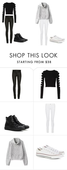 """Two Types of Girls"" by ayla-zx ❤ liked on Polyvore featuring Cushnie Et Ochs, Converse, Frame Denim, women's clothing, women, female, woman, misses and juniors"
