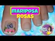 Como Realizar rosas En Uñas / Uñas Turqueza/dISEÑO Para Uñas EN pies - YouTube The Creator, Youtube, Pink Butterfly, Pink Nail, Nail Designs, Youtubers, Youtube Movies