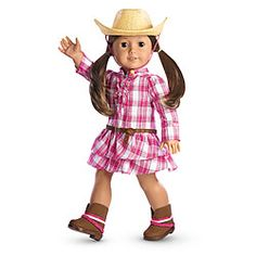 American Girl® Dolls: Western Plaid Outfit & Hat (Had to Grab two of these).