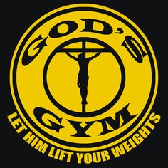 Gods Gym T-Shirt You might have a good workout routine when it comes to your physical muscles. But do you have one when it comes to your spiritual muscles? If not, you should go to God's Gym. It's alw