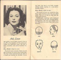 Hedy Lamarr pincurl set