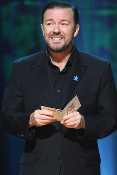 """Ricky Gervais is a great comedian.  A total crack up.  If you have not seen """"Ghost Town"""" you are missing out on two hours of laughter.  Also, he has a show, 3rd season starting soon, called """"Idiot Abroad.""""  So very funny, if you like dry humor...British humor."""