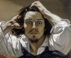 Courbet El desesperado - L'home desesperat Le Désespéré est un tableau du peintre français Gustave Courbet réalisé entre 1843 et 1845. C'est un autoportrait de l'artiste sous les traits d'un jeune homme qui regarde le spectateur avec désespoir. Durant...