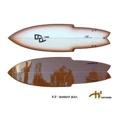 "stinger surfboards | Barracuda 6'5"" Twin Fin Stinger Retro Fish Surfboard"
