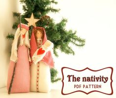PDF Nativity- Christmas Time, home decor,pdf e-mail ,tutorial ,Nordic style,Nativity pattern -Christmas