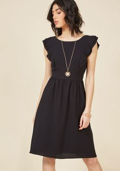 A Joy to Be Blissful A-Line Dress in Black | ModCloth