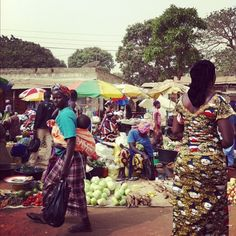 Africa. I have seen this live...the marketplace.