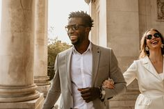 Stylish Groom at Intimate Elopement | By Leah Marie Photography | Micro Wedding | Intimate Wedding | Small Wedding | Portsmouth Wedding | Stylish Bride and Groom | Bridal Suit | Bridal Bouquet | Alternative Wedding Dress | Pink Wedding