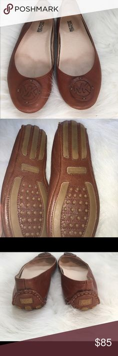 Michael Kors Flats In great condition flats, no flaws the leather is in perfect condition and the soles are not worn. KORS Michael Kors Shoes Flats & Loafers