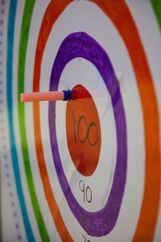 Target practice-Joshua 1:7 Police Birthday Party With Free Printables | Simply Home Blog