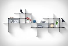 Up The Wall shelving system