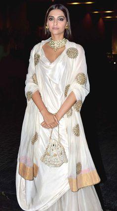 Sonam Kapoor at Masaba Gupta, Madhu Mantena's wedding reception.