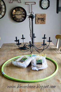 diy restoration hardware knockoff chandelier, lighting