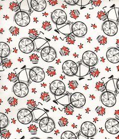 vintage bike fabric