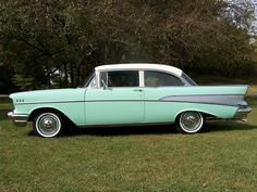 1957 Chevy Bel Air (Side View) Color: Surf Green and Ivory  Wayne and Carol Britten  Kalamazoo, MI