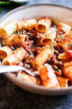 Lamb Ragu With Rigatoni – The Defined Dish Lamb Recipes, Pasta Recipes, Cooking Recipes, Dinner Recipes, Pasta Dishes, Food Dishes, Food Food, Main Dishes, Lamb Pasta