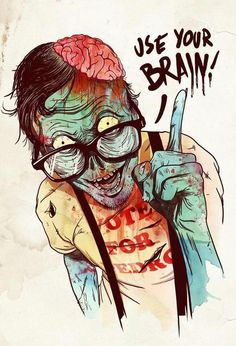 blood, brain, draw, horror