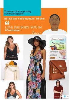 """Plus size Fashion Magazine for the """"Big Girls out there"""" Be plus size be Unique! Home to Plus size world"""