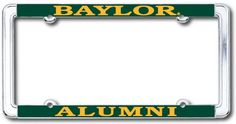 #Baylor Alumni license plate frame - perfect for the new grad! #sicem ($12.95 at Baylor Bookstore)