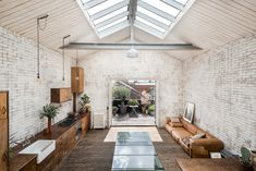 This London warehouse conversion combines reclaimed materials with open plan living for a unique live/work space, on the market with The Modern House. Converted Warehouse, Warehouse Home, Warehouse Conversion, Warehouse Renovation, Lighting Warehouse, Loft Conversions, London Real Estate, Loft Industrial, Mezzanine Bedroom