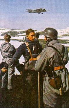 German Fallschirmjäger (paratroopers) in Norway, 1940.