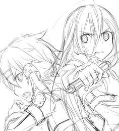 Sword Art Online Kirito, Online Art, Fandom, Marvel, Fantasy, Manga, Drawings, Dibujo, Anime Art