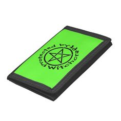 Protected by Witchcraft Pentacle Wiccan Wallet by Cheeky Witch #zazzle #witch #wicca #wiccan #pagan #wallet #pentacle #pentagram #cheekywitch