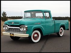 '60 Ford...old trucks are totally cool. Love the color and whitewalls!! Can't wait for the '47 to be completed.
