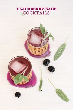 blackberry sage cocktails.