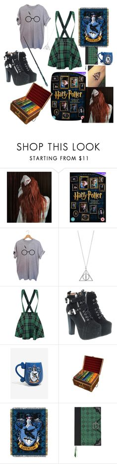 """Imma Slytherclaw"" by lonely-ravenclaw-girl ❤ liked on Polyvore featuring Jeffrey Campbell and Warner Bros."