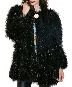 Street Style Imitated Fur Jacket