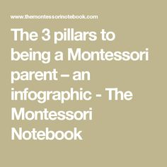 The 3 pillars to being a Montessori parent – an infographic - The Montessori Notebook