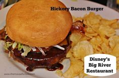 Hickory Bacon Burger from Big River Grille at Disney's BoardWalk Resort #DisneyFood #WaltDisneyWorld  #disneyMenu