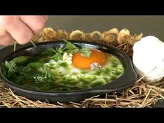 René Redzepi from the World's Best Restaurant, Noma makes the signature dish: The hen and the egg.