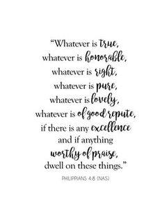 Free Scripture Printable - Philippians 4:8