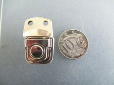 Catches Latches Small Silver Button SnapLock 32x20mm for bags, suitcases, boxes #Jaszitupleatheraccents