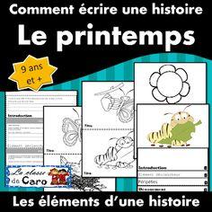 La classe de Caro: Thème: Le printemps Core French, French Class, French Teacher, Teaching French, Teacher Helper, Learn French, Boutique, Language, Education