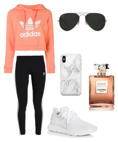 """""""adidas"""" by crcorzine on Polyvore featuring adidas, adidas Originals, Recover, Ray-Ban and Chanel"""