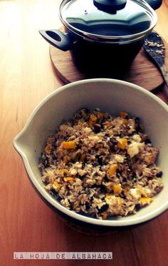 Ensalada de arroz con calabacín amarillo- Insalata di riso con zucchine gialle ~ La Hoja de Albahaca #vegetarian
