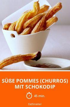 Süße Pommes (Churros) mit Schokodip - smarter - Zeit: 45 Min. | eatsmarter.de