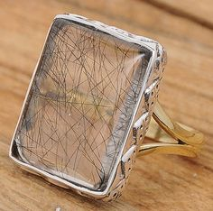 Black Rutile .925 Sterling Silver Jewelry Ring Size 8