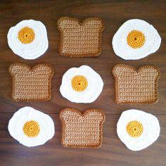 Toast and Egg Coaster Set!